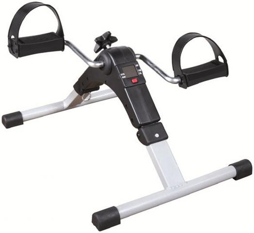 Pedal exerciser with digital display for legs and arms