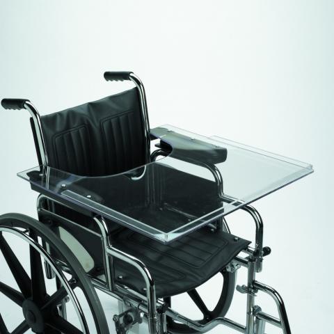 Lexan wheelchair tray