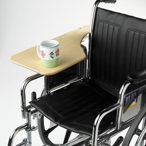 Half lap wheelchair tray in wood or Lexan