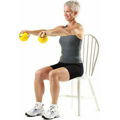 Exercise with Thera Band soft eighted balls | Alberni Comfort Zone