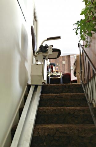 Legacy ELEGANCE Stair lift newly installed in Port Alberni BC