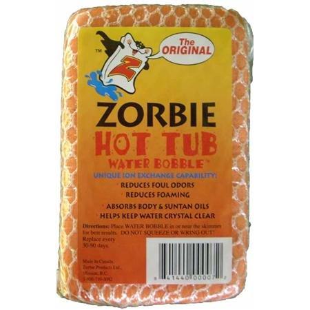 Zorbie floating oil absorber for spas