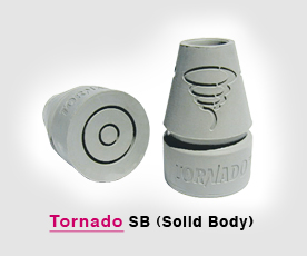 Tornado solid body flex crutch tips