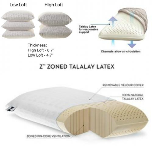 Talalay High Loft Queen Size Pillow
