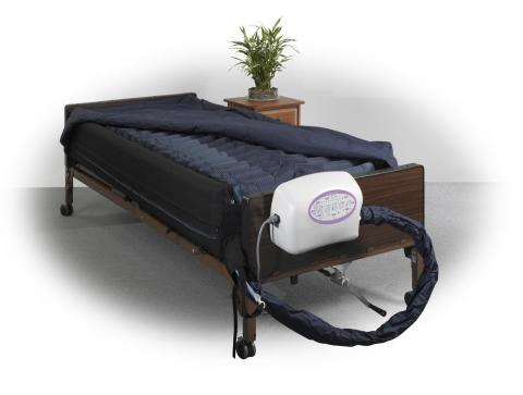 "10"" Lateral Rotation Mattress with on Demand Low Air Loss available for rent or purchase at The Comfort Zone Mobility Aids & Spas in Port Alberni BC"