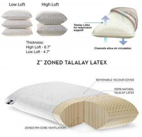 Talalay High Loft Queen Size Pillow