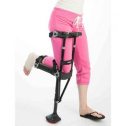 IWalk 2.0 Hands Free Knee Crutch available at The Comfort Zone Mobility Aids & Spas in Port Alberni, Vancouver Island, BC. Call 250 724 4477