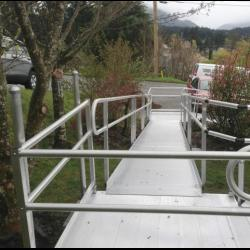 Ramp Installation done by The Comfort Zone Mobility Aids & Spas in Port Alberni, Vancouver Island, BC.  Call to set up an appointment for your onsite survey so that we can provide you with an accurate quote 250 724 4477 or email info@albernicomfortzone.com