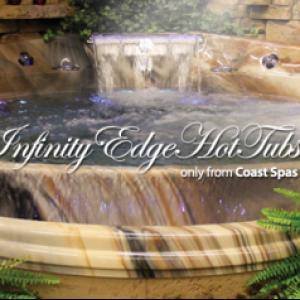 Coast Spas Cascade edge installation