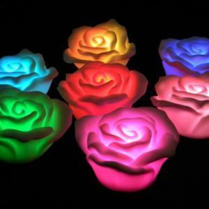 Floating LED light flowers