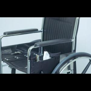 clip on side bag for wheelchair with zipper