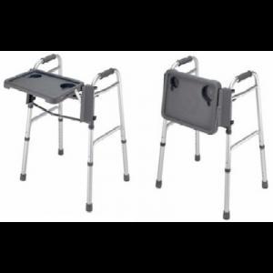 fold down folding walker tray