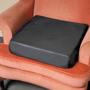 "Vinyl covered square cushion 3"" & 4"" high foam riser"