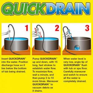 Quik Drain for emptying spas quickly