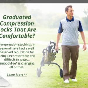 SmoothToe Energizing socks 15-20 & 20-30mmHg of Gradient Compression