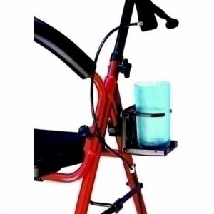 Wheelchair, walker, and rollator foling cupholder