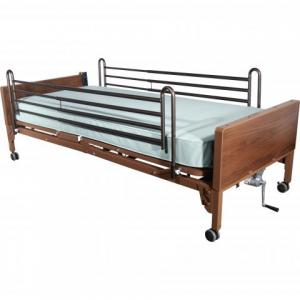 Full Length rails on rental bed at The Comfort Zone in Port Alberni BC Vancouver Island