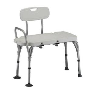 Transfer Bench with soap Dish. Available at The Comfort Zone Mobility Aids & Spas in Port Alberni, Vancouver Island, BC