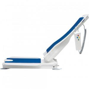 Bathlift reclined at The Comfort Zone Mobility Aids & Spas in Port Alberni, Vancouver Island, BC
