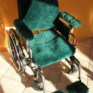 Hi temp UR medical sheepskin wheelchair pressure sore prevention package is  available at The Comfort Zone Mobility Aids & Spas in Port Alberni, Vancouver Island, BC. Call for information and pricing 250 724 4477 or email info@albernicomfortzone.com