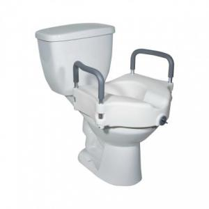 Raised Toilet Seat with Arm Rentals at The Comfort Zone Mobility Aids & Spas in Port Alberni Vancouver Island BC