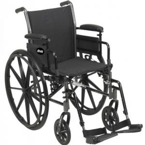 """16"""", 18"""" 20"""" Wide Manual Wheelchair with padded sling seat & Back"""