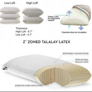 Tallalay Pillow - Allergen free, Breathable, Latex