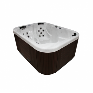 Coast Spas Northwind Omega in white with grey Cabinet available at The Comfort Zone Mobility Aids & Spas in Port Alberni, Vancouver Island, BC. Call for information and pricing 250 724 4477 or email info@albernicomfortzone.com