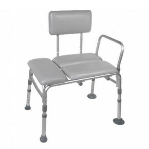 Transfer Bench with padded seat at The Comfort Zone Mobility Aids & Spas in Port Alberni, Vancouver Island BC