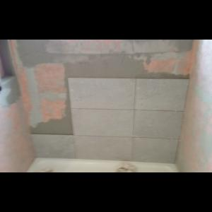 The start of the tile. These are a larger tile for a modern look