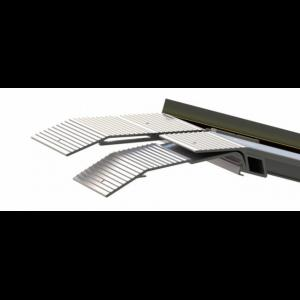 Top plate extensions for folding ramps