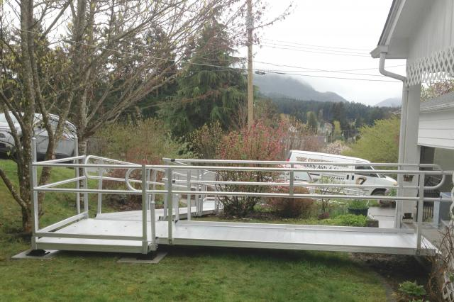 EZ ACCESS aluminum ramp custom designed for your needs. Installed by The Comfort Zone Mobility Aids & Spas in Port Alberni BC